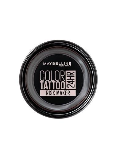 Maybelline Maybelline New York Color Tattoo 24HR Krem Göz Farı - 190 Risk Maker-Siyah Siyah